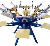 Manual_carousel_rotary_screen_printing_machine